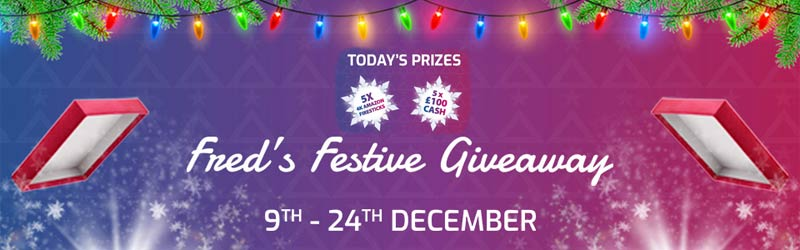 Freds festive giveaway offer